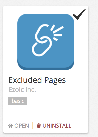 Excluded Pages Ezoic App